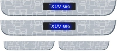 Auto Pearl Premium Quality Wireless 7mm Stainless Steel Led Scuff Plates Footsteps For - Mahindra XUV 500 Door Sill Plate