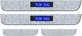 Auto Pearl Premium Quality Wireless 7mm Stainless Steel Led Scuff Plates Footsteps For - Mahindra TUV 300 Door Sill Plate