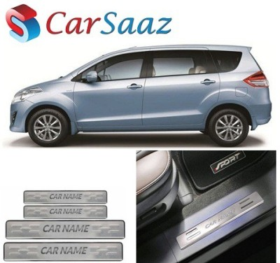 Carsaaz Stainless Steel foot Step Plate for Mahindra Logan Door Sill Plate