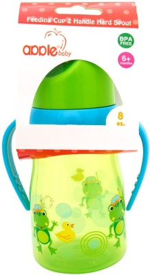 Apple Baby Feeding Cup 2 Handle Hard Spout