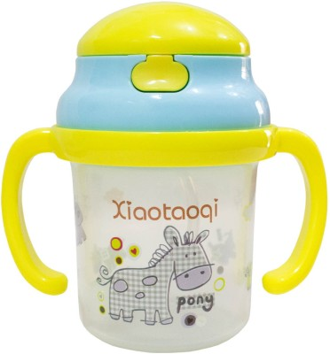 Rachna Baby / Infant 04 PP Water / Juice Training Straw Sipper Cup with Handle - 180ML