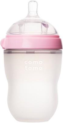 Comotomo Natural Feel Baby Bottle - Single Pack Pink 8 oz