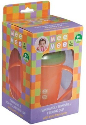 Mee Mee Baby's Non-Spill Feeding Cup (Orange)