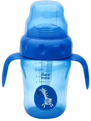 Mee Mee 2-in-1 Spout / Straw Silicone Training Cup(Blue)