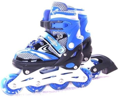 Inline Adjustable Inline Skate In-line Skates - Size 7 - 9 US(Black, Blue)