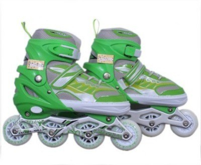 Xerobic • Easy Push Button Adjustable Sizing, Deluxe Comfort Liner, And Power Strap In-line Skates - Size 7 - 9 UK