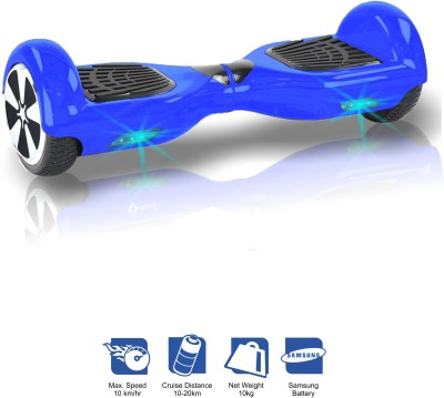 Kiiwi Electric Hands Free 2 Wheels Self Balancing Scooter Blue Quad Roller Skates - Size 6 -12 UK