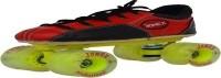 Jonex Professional Quad Roller Skates - Size 3 US(Black, Red)