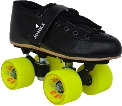 Jonex Gold Quad Roller Skates - Size 2 US(Black)
