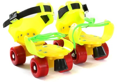Dry Skates Power Quad Roller Skates - Size 4-7 UK(Yellow, Green, Orange)