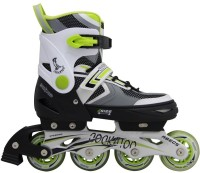 Cockatoo Medium In-line Skates - Size 35-38 Euro(Green, White)
