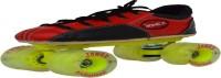 Jonex Professional Quad Roller Skates - Size 5 US(Black, Red)