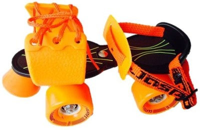 Jaspo Marshal Quad Roller Skates - Size 1 - 5 UK(Black, Orange)