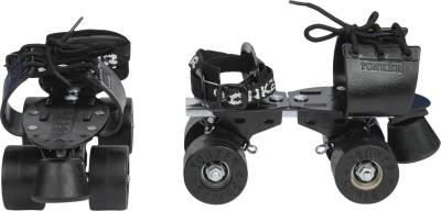Yonker ADJUSTABLE SKATE BLACKEN (SYNTHETIC / RUBBER WHEEL) Quad Roller Skates - Size 3 to 6