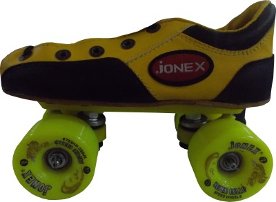 Jonex Super Rollo Quad Roller Skates - Size 2 US(Yellow, Black)