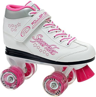 Roller Derby Sparkle's Lighted Quad Roller Skates - Size 1 US