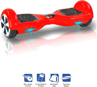 Kiiwi Electric Hands Free 2 Wheels Self Balancing Scooter Red Quad Roller Skates - Size 6 -12 UK