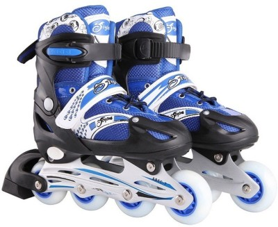 Xerobic Easy Push Button Adjustable Sizing, Deluxe Comfort Liner, And Power Strap In-line Skates - Size 7 - 9 UK