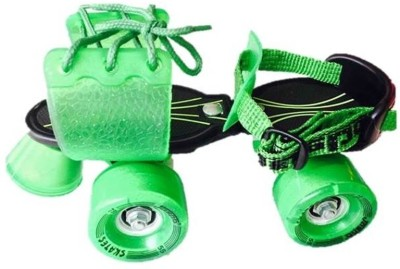 Jaspo Marshal Quad Roller Skates - Size 1 - 5 UK(Black, Green)