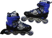 Credence Adjustable Shoe In-line Skates - Size 7-9 UK(Black, Blue)