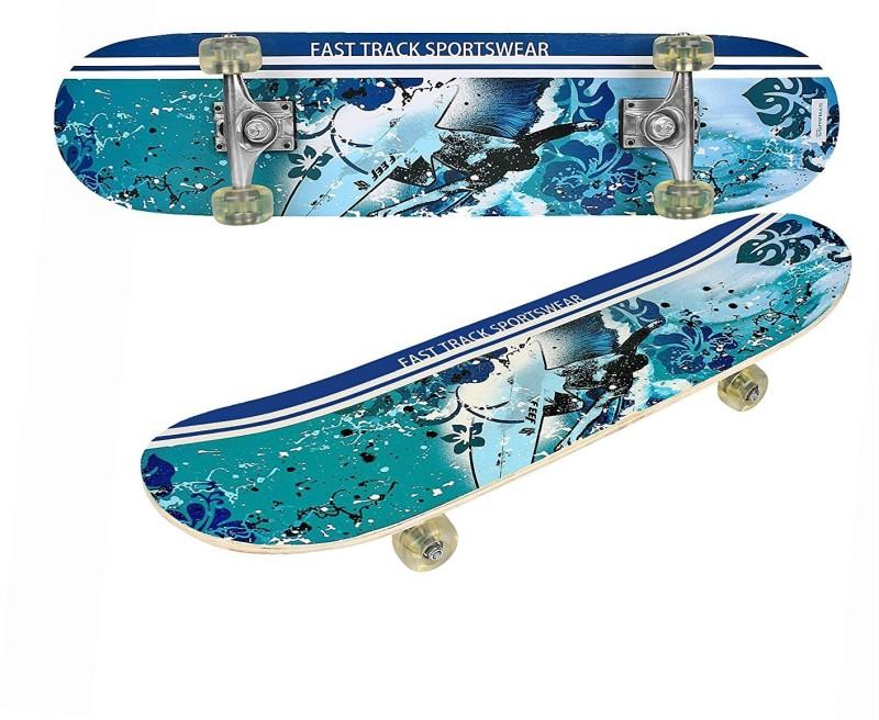 Strauss Bronx FT 8 inch x 4.5 inch Skateboard(Blue, Pack...