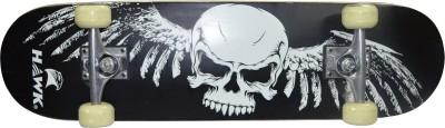 Hawk Skull 8 inch x 31 inch Skateboard(Black, Pack of 1)