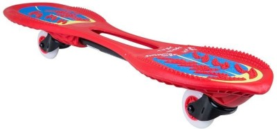 oxelo OXELO OXELOBOARD BEGINNER FLASH RED 2 inch x 7 inch Skateboard