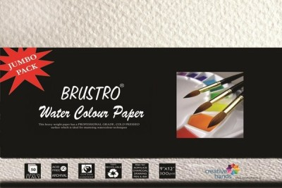 Brustro Water Color Papers 300 gsm 9 x 12 inch Jumbo Pack Sketch Pad