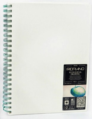 Fabriano Ecological Drawing Book Spiral Bound Portrait A4 Sketch Pad(White, 70 Sheets)