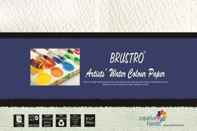 Brustro Artists, Watercolour Papers 300 GSM 5? X 7? Sketch Pad(White, 15 Sheets)