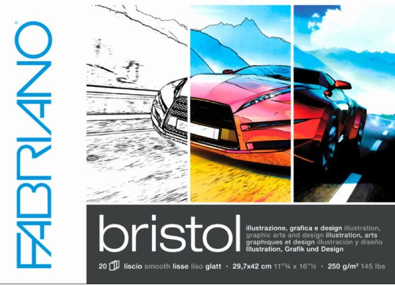 Fabriano Bristol Glued Block A3 Sketch Pad(White, 20 Sheets)