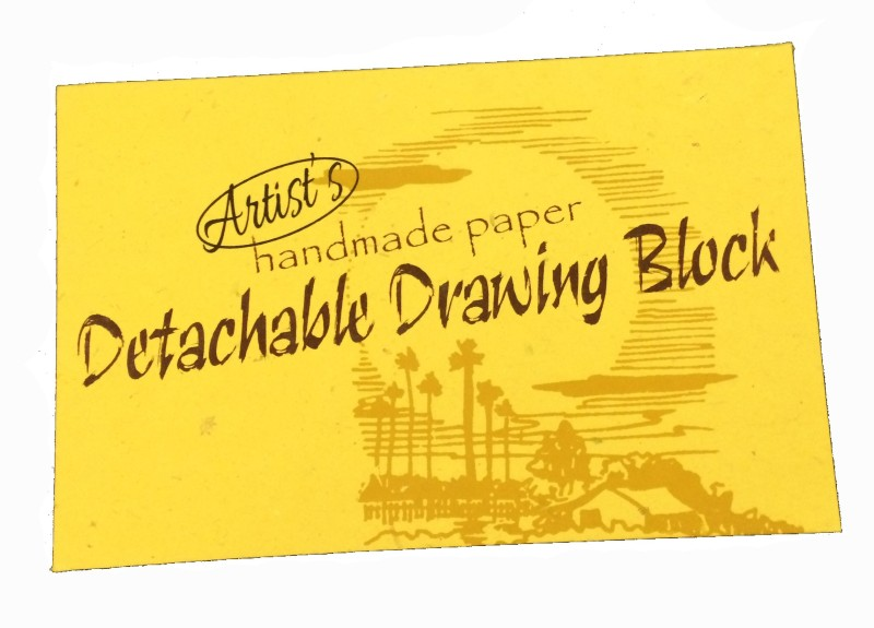 Creates & Designs. Recycled Handmade Paper Detachable Drawing Block Sketch Pad(Multicolour, 24 Sheets)