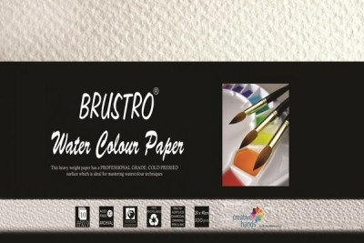 Brustro Watercolour Papers 300 GSM 20CM X 40CM Sketch Pad(White, 10 Sheets)