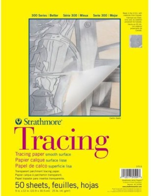 Strathmore Tracing Pad A4 Sketch Pad(Multicolor, 50 Sheets)