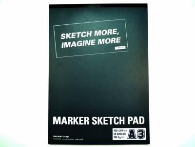 Tools Int,l Marker Pad A3 Sketch Pad(Multicolor, 50 Sheets)