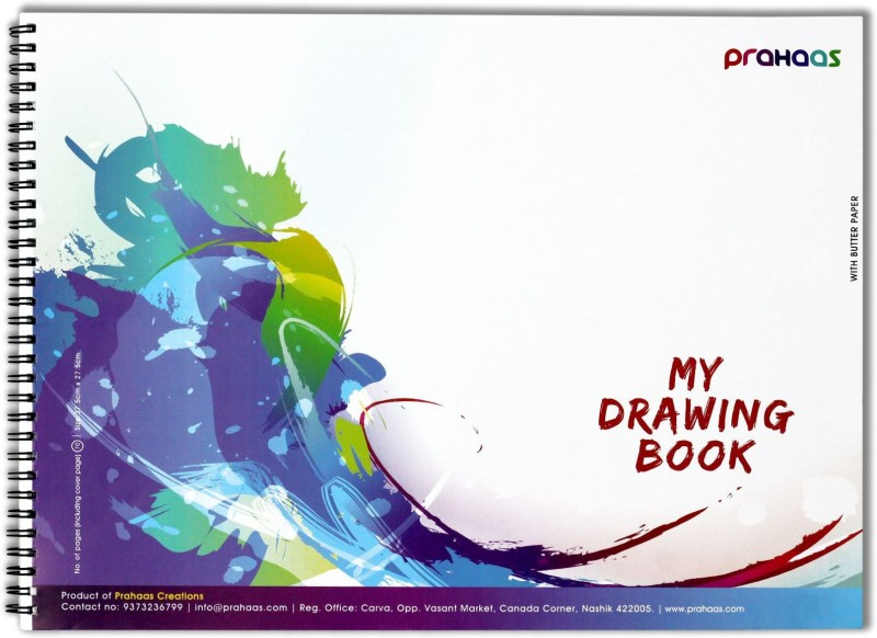 Prahaas Drawing Books with Butter Paper Sketch Pad(Blue, 70 Sheets)