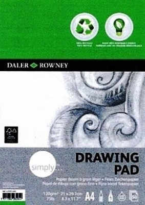 Daler-Rowney Simply A4 Eco Draw Sketch Pad(50 Sheets)
