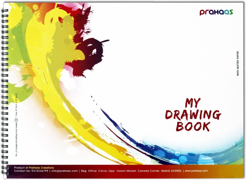Prahaas Drawing Books with Butter Paper Sketch Pad(Yellow, 70 Sheets)
