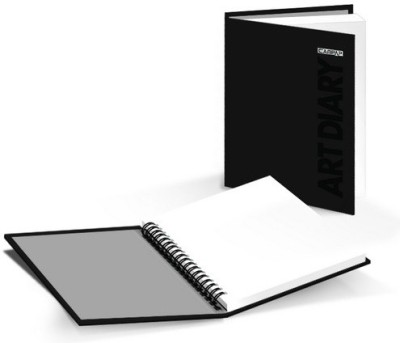 Campap WIRE-O ART DIARY A 6 Sketch Pad(Black, 60 Sheets)