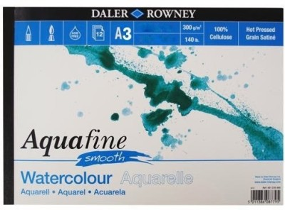 Daler-Rowney Aquafine Smooth Sketch Pad(White, 12 Sheets)