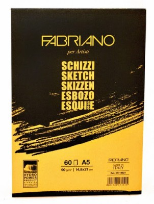 Fabriano Artists, Sketch Glued Block A5 Sketch Pad