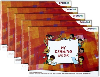 Prahaas Drawing Books With Butter paper Sketch Pad(Red, orange, 44 Sheets)