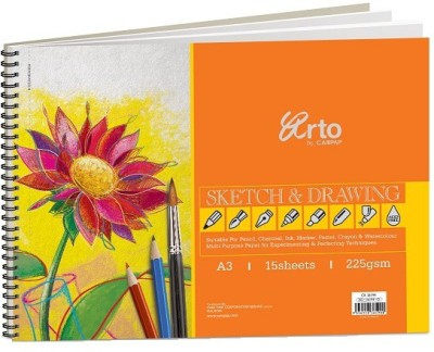 Campap Arto Wire-O-Artist Sketch and Drawing Book A3 Sketch Pad
