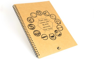 Thinkpot Each day comes with 86,400 seconds Sketch Pad(Brown, 40 Sheets)