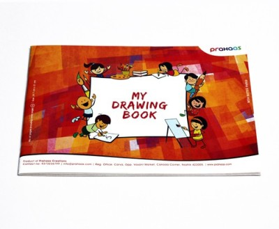 Prahaas Drawing Book with Butter Paper for Kids Sketch Pad