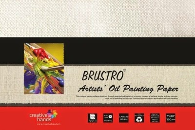 Brustro Artists Oil Painting Papers 300 gsm 7 x 10 inch Sketch Pad(White, 10 Sheets)