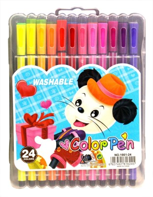 Pigloo Color Pens with Washable Inks Bullet Type Nib Sketch Pens