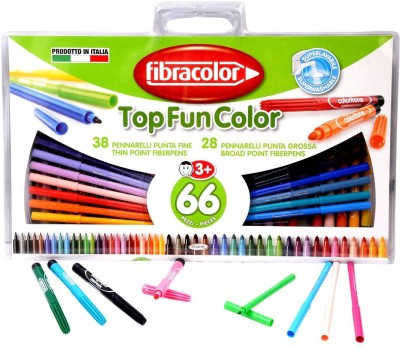 Fibracolor Top Fun Color Superfine Nib Sketch Pens  with Washable Ink