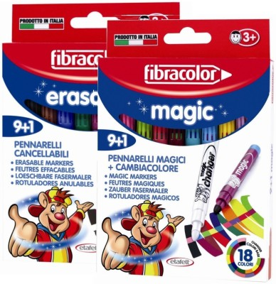 Fibracolor Magic & Erasable Combo Superfine Nib Sketch Pens  with Washable Ink
