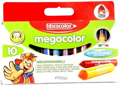 Fibracolor Megacolor Fine Nib Sketch Pens  with Washable Ink